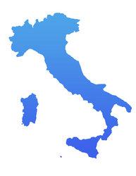 cutcaster-photo-100687071-blue-italy-map